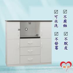 轉角傢俱-塑鋼電器櫃 防潮防水防發霉 (寬120深43高112)二色可選