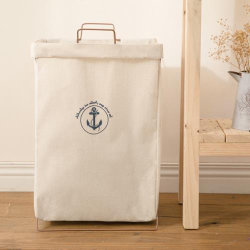 悅生活--百特兔 帆布摺疊置物洗衣籃