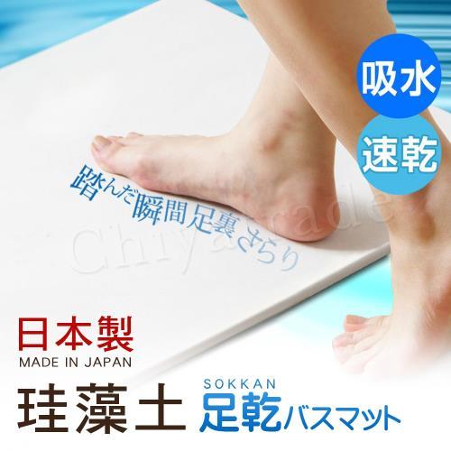 日本藤原境內版 日本製 珪藻土 足乾樂 超速吸水地墊 乾燥快超吸水墊-L(日本建材級)