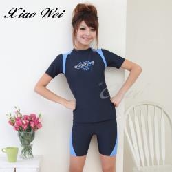 舒沛品牌 時尚二件式短袖泳裝 NO.S2017