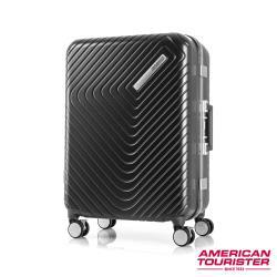 AT美國旅行者 24吋Esquino 鋁合金細框剎車雙輪行李箱(黑)-GN1*07002