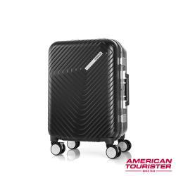AT美國旅行者 20吋Esquino 鋁合金細框剎車雙輪登機箱(黑)-GN1*07001
