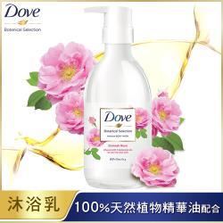 DOVE 多芬 日本植萃沐浴乳_粉玫瑰光滑水潤 500G