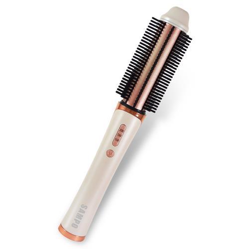 【SAMPO 聲寶】無線捲髮神器-贈震動美膚儀(無線捲髮神器、直捲兩用、電棒捲髮器)