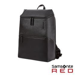 Samsonite RED BENINGTON 商務皮革筆電後背包14(黑)-GT5*09001