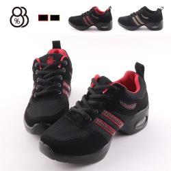 【88%】休閒鞋-舒適減震氣墊鞋底 網格拼接絨面 厚底4.5cm 運動風休閒鞋 舞鞋 廣場舞
