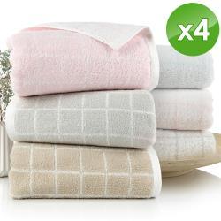 HKIL-巾專家 源于自然日系質感蓬鬆無撚紗毛巾-4入組