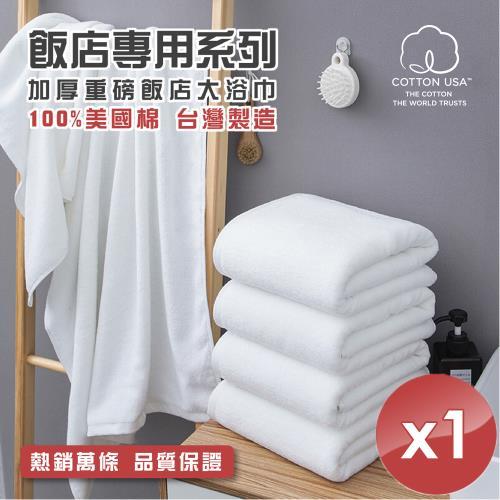 HKIL-巾專家 台灣製純棉加厚重磅飯店大浴巾-1入組
