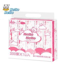 HELLO喵的物語系列抽取式衛生紙100抽X10包X10袋/箱