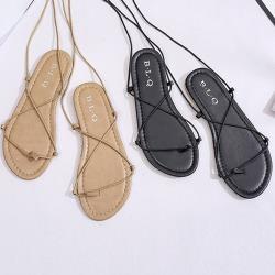 【Alice】(現貨+預購)浪漫情愫綁帶羅馬涼鞋