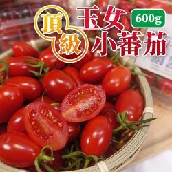 坤田水果 頂級王樣嚴選溫室玉女小蕃茄(5盒)單盒600克