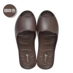 (MONZU)零著感一體成型防滑魚口室內外拖鞋-咖啡色