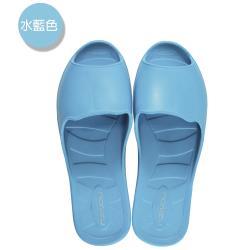 (MONZU)零著感一體成型防滑魚口室內外拖鞋-水藍