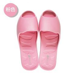 (MONZU)零著感一體成型防滑魚口室內外拖鞋-粉色