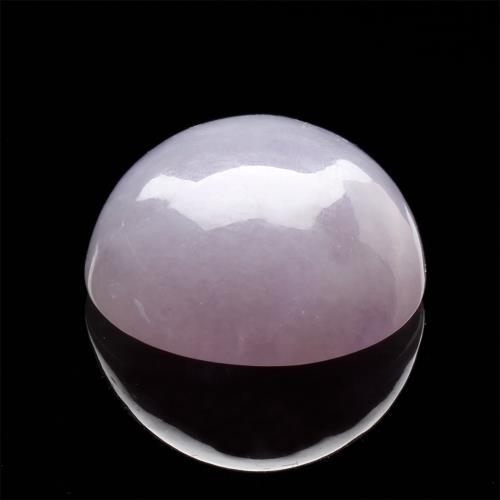 【雅紅珠寶】天然全滿紫蘿翡翠玉蛋面-腰衣金紫/