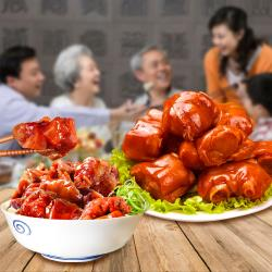 台灣滷味博物館即食滷豬腳添壽組