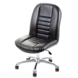 GXG 短背皮面 無扶手電腦椅 可後躺/鋁合金腳 TW-1024 LUK