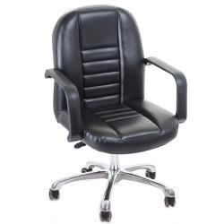 GXG 短背皮面 電腦椅 鋁合金腳  TW-1023 LU