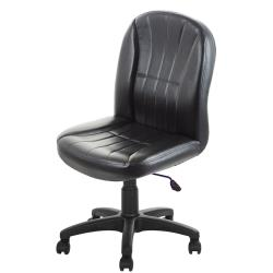 GXG 短背皮面 無扶手 可後躺/鋁合金腳 電腦椅   TW-1012 LUK