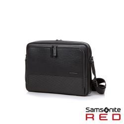 Samsonite RED DAWONE 商務皮革筆電肩背包13吋(黑)HE8*09003