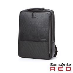Samsonite RED DAWONE 商務皮革筆電後背包15.6吋(黑)HE8*09001