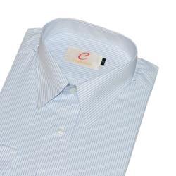 Chinjunshton細纖維抗皺商務襯衫、長袖,白底條紋款,編號5002-3
