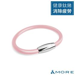 &MORE愛迪莫健康鍺鈦手環/腳環ZpowerII(6mm)-粉紅