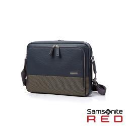 Samsonite RED DAWONE 商務皮革筆電肩背包13吋(海軍藍)HE8*41003