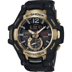CASIO 卡西歐 G-SHOCK 飛行員太陽能藍牙手錶-金 GR-B100GB-1A