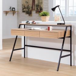 Boden-維拉爾4尺工業風三抽書桌/工作桌