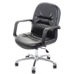 GXG 短背皮面 電腦椅 可後躺/鋁合金腳   TW-1003 LUK