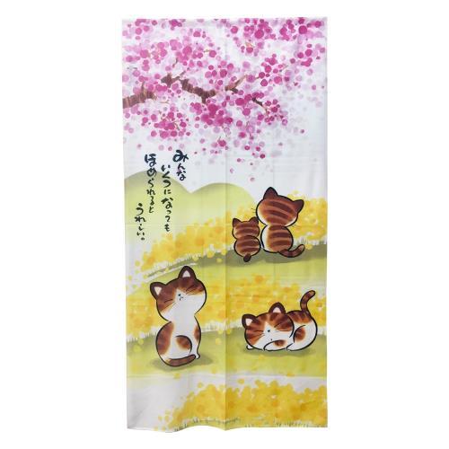櫻花貓長門簾175x88cm-HCJ8517