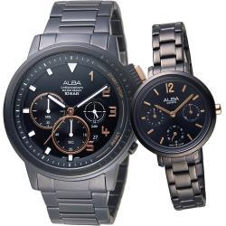 ALBA 相約到永遠情人對錶(AT3F31X1+AP6659X1)