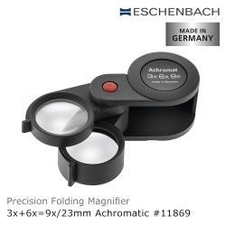【德國 Eschenbach】3x+6x=9x/23mm 德國製兩鏡式消色差珠寶放大鏡 11869