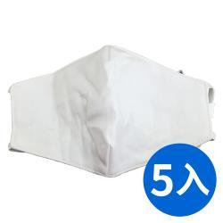 兒童布口罩  3D立體剪裁 可水洗 顏色隨機(5入)
