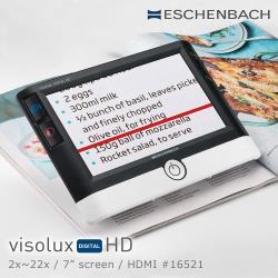 【德國 Eschenbach 宜視寶】visolux DIGITAL HD 2x-22x 7吋高畫質HDMI可攜式擴視機 16521 (公司貨)