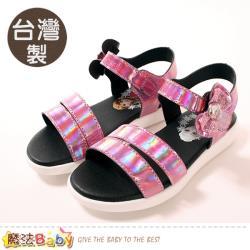 魔法Baby 女童鞋 台灣製冰雪奇緣授權正版中大女童新潮涼鞋~sa04122