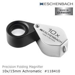 【德國 Eschenbach】10x/15mm 德國製金屬殼消色差珠寶放大鏡 118410