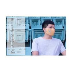 勤逸軒-Prodigy超透氣MIT防曬防塵防護立體口罩-花色樹懶黃色2入