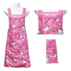 Hello Kitty 45週年花布圍裙HB508-紅色