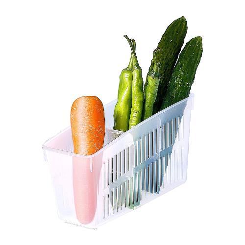 日本製造INOMATA冰箱冷藏-長方型分格收納籃3入裝