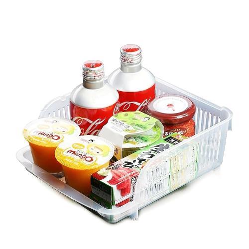 日本製造INOMATA冰箱冷藏可疊放收納籃3入裝