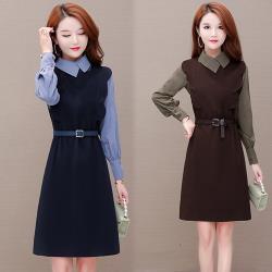 韓國K.W.(預購)韓時尚經典簡約收腰OL洋裝