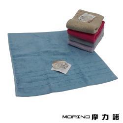 MORINO摩力諾-無撚紗素色典雅方巾(1入)