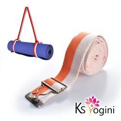 KS yogini 多功能瑜珈墊收納葫蘆釦綑綁背帶 拉筋輔助帶 橘白