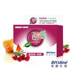 BIOline星譜生技 緩釋型蔓越莓+綠蜂膠(60顆/盒)