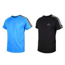 KAPPA 男圓領短袖T恤-排汗 慢跑 路跑 運動 台灣製
