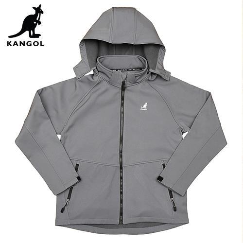 【英國KANGOL】保暖貼合外套-男款-灰色/