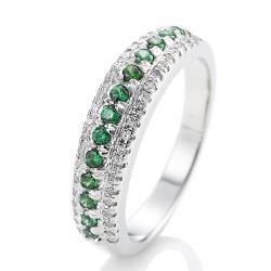 Amor  求婚戒 排戒晶鑽 銀飾戒指(005)