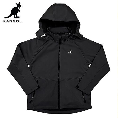 【英國KANGOL】保暖貼合外套-男款-黑色/